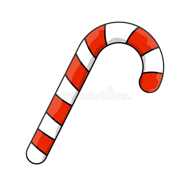 Diseño del icono del símbolo del vector del bastón de caramelo ilustración del vector