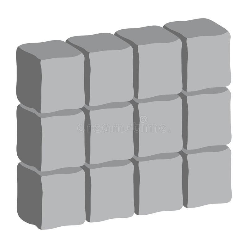 Diseño del icono del símbolo del vector del fondo de la pared de piedra libre illustration