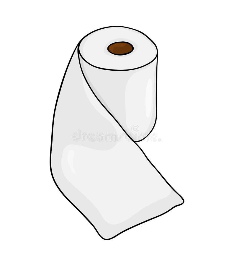 Diseño del icono del símbolo del vector del rollo del papel higiénico Illustrat hermoso stock de ilustración