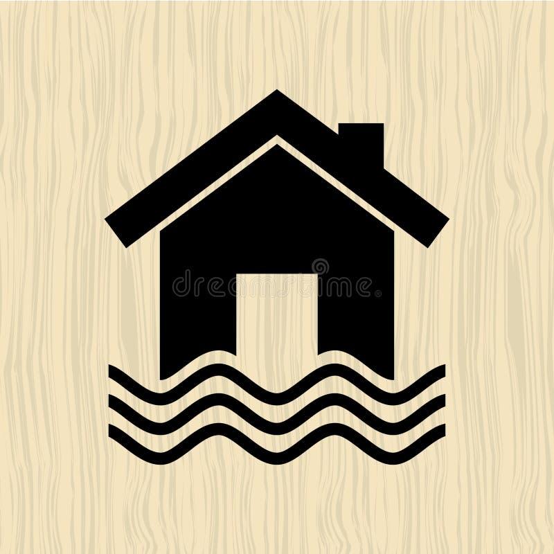 Diseño del icono del seguro ilustración del vector