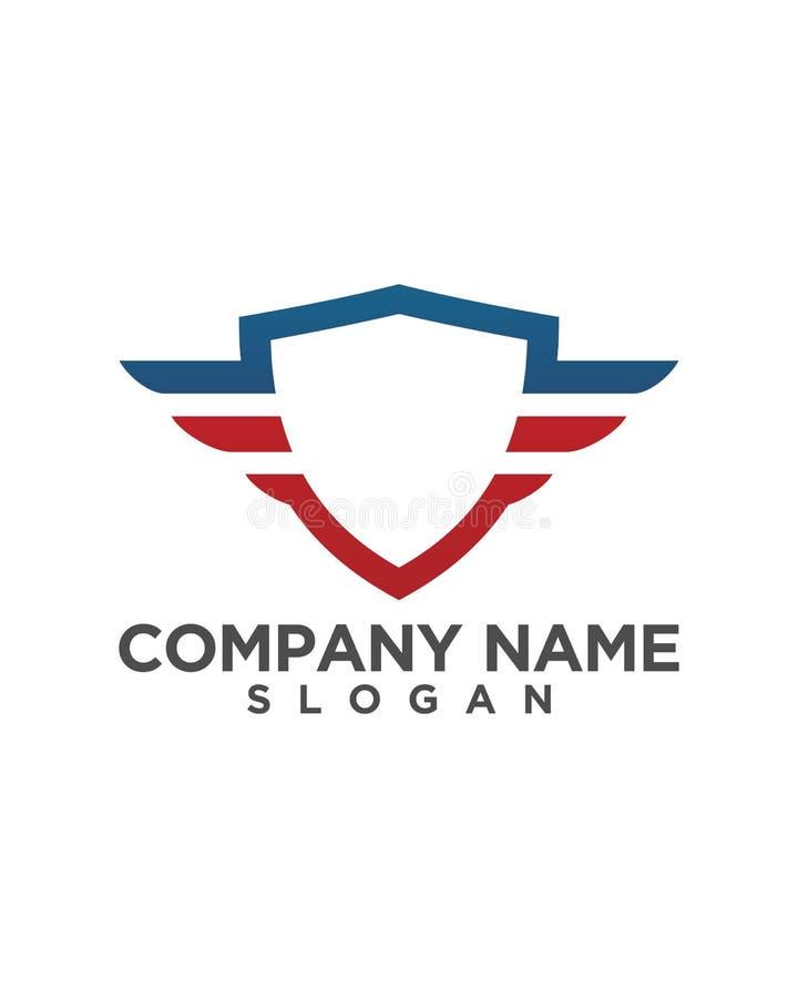 Diseño del icono del vector de Logo Template del escudo fotos de archivo libres de regalías