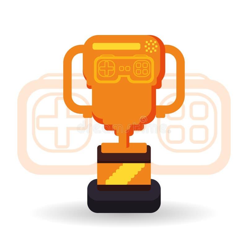 Diseño del icono del videojuego stock de ilustración