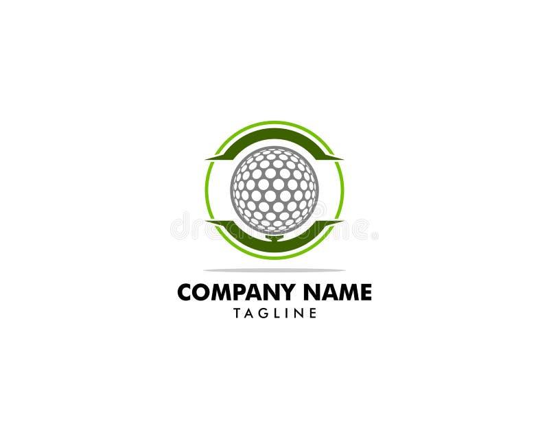 Diseño del icono del ejemplo del vector de Logo Template del golf libre illustration