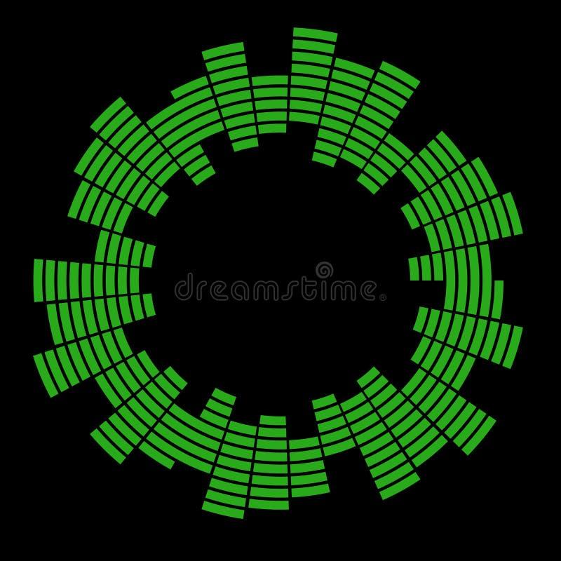 Diseño del icono del símbolo del vector del círculo de la onda acústica de la música del equalizador Icono del equalizador aislad foto de archivo