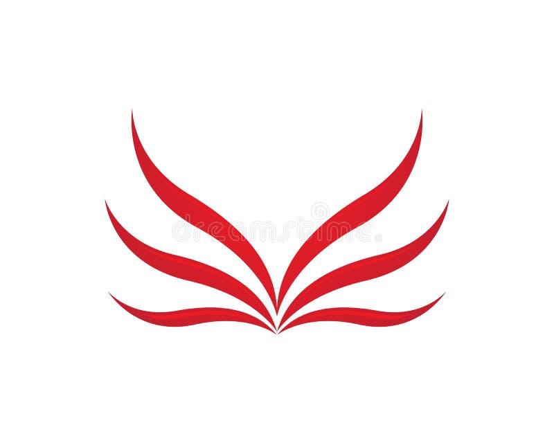 Diseño del icono del vector de Wing Logo Template del halcón stock de ilustración