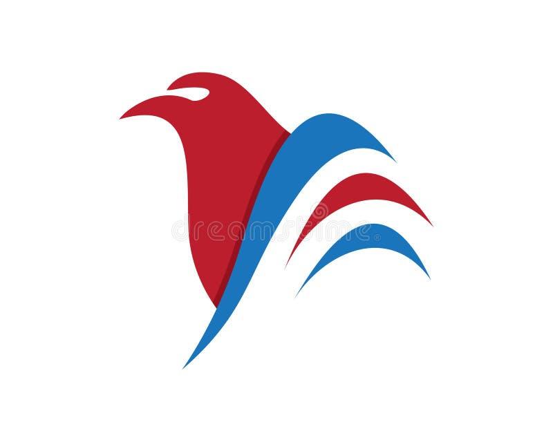 Diseño del icono del vector de Wing Logo Template del halcón libre illustration