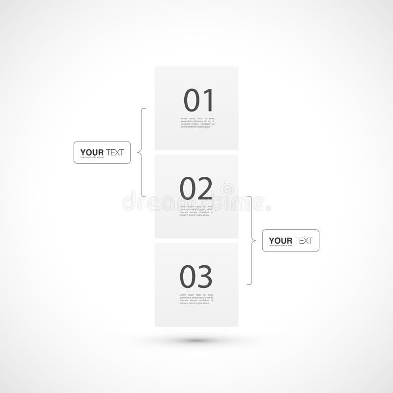Diseño del infographics de la plantilla de la carta de organización con su texto libre illustration