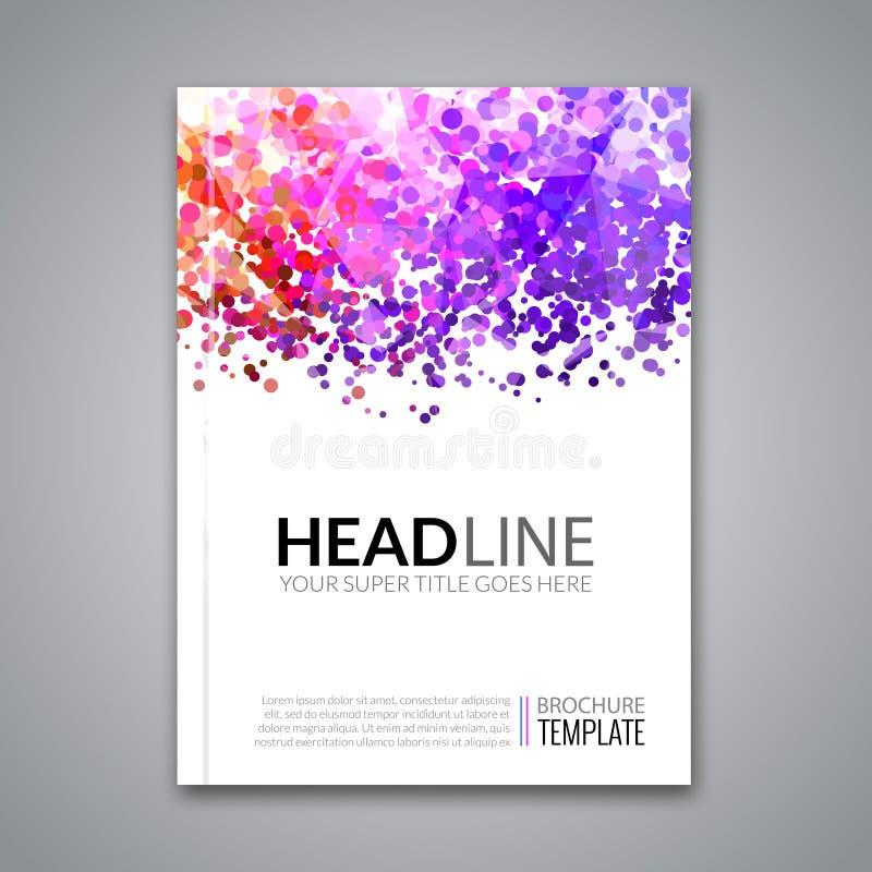 Diseño del informe de negocios, plantilla del aviador, fondo con los puntos coloridos Disposición de la maqueta de la plantilla d ilustración del vector