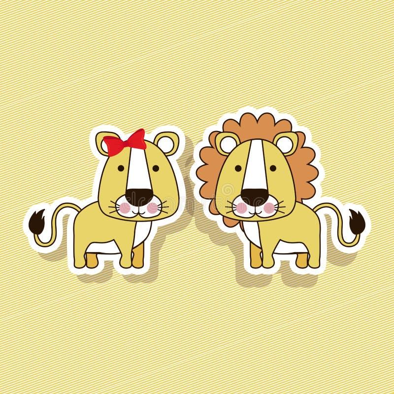Diseño del león stock de ilustración