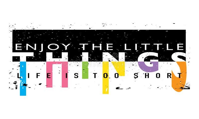 Diseño del lema de la camiseta de los gráficos de la camiseta stock de ilustración