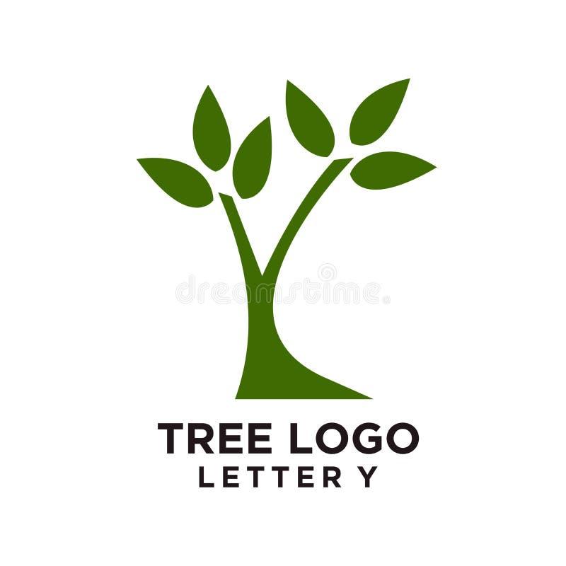 Diseño del logotipo del árbol o símbolo del árbol, icono para el negocio de la naturaleza libre illustration