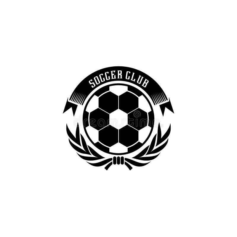 Diseño del logotipo del club del fútbol del fútbol que se puede utilizar para el equipo juvenil o mayor de fútbol ilustración del vector