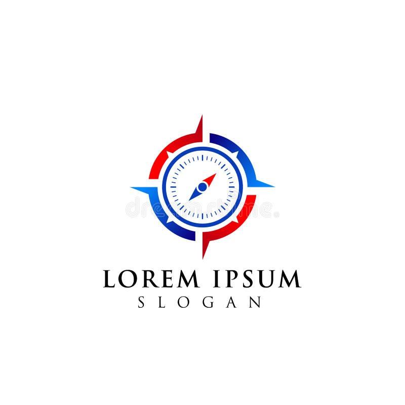 Diseño del logotipo del compás diseño del símbolo del icono de la navegación ilustración del vector