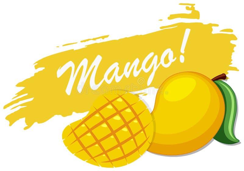 Diseño del logotipo con el mango fresco ilustración del vector