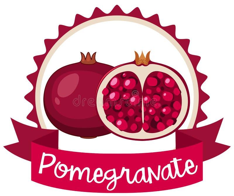 Diseño del logotipo con la granada libre illustration