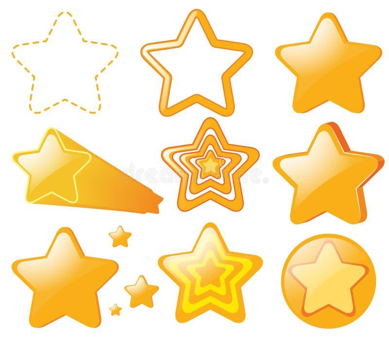 Diseño del logotipo con las estrellas amarillas libre illustration