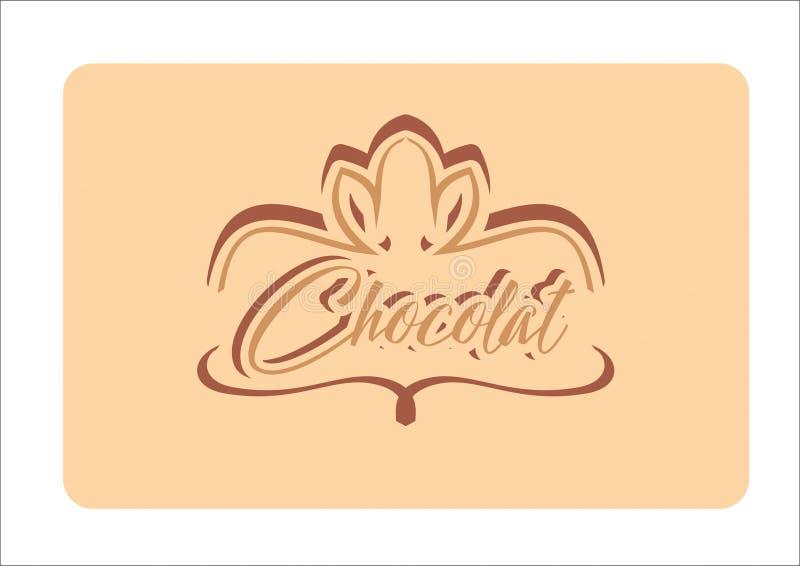 Diseño del logotipo de Chocolat stock de ilustración