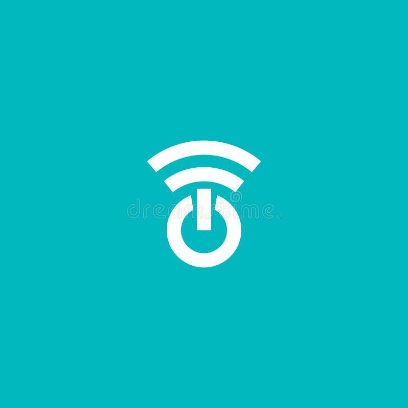 Diseño del logotipo de Internet del poder stock de ilustración
