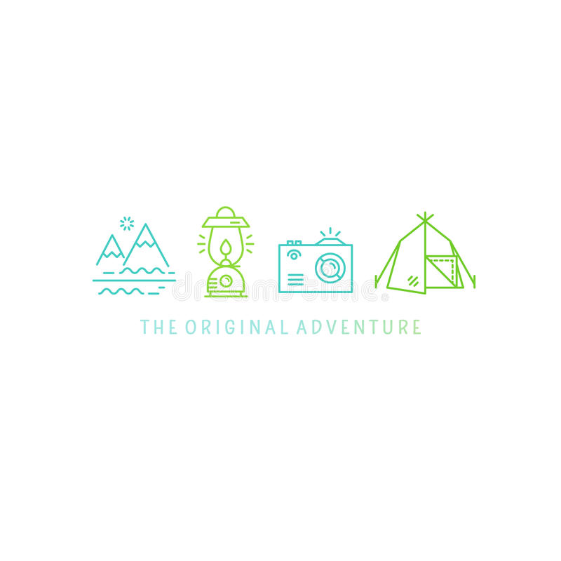 Diseño del logotipo de la aventura libre illustration