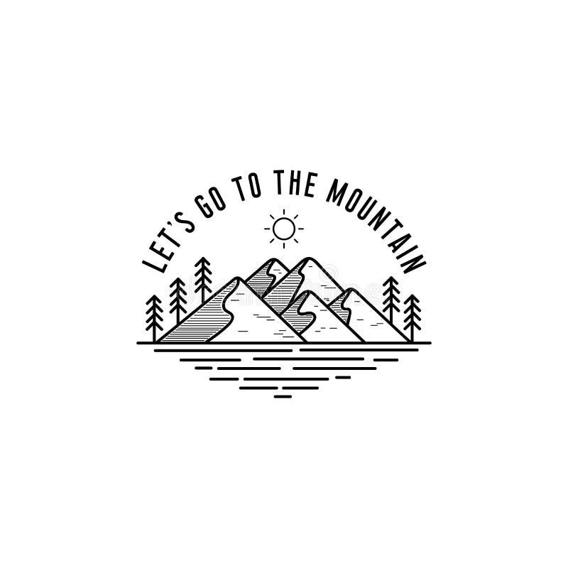 Diseño del logotipo de la aventura ilustración del vector