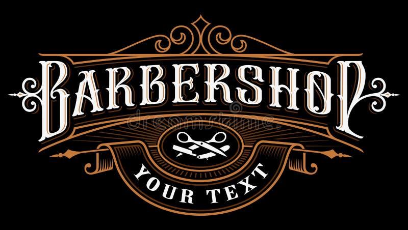 Diseño del logotipo de la barbería libre illustration
