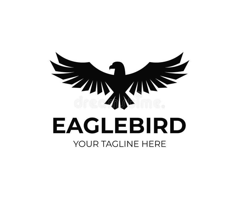 Diseño del logotipo de la capa de Eagle Diseño del vector del pájaro del halcón ilustración del vector