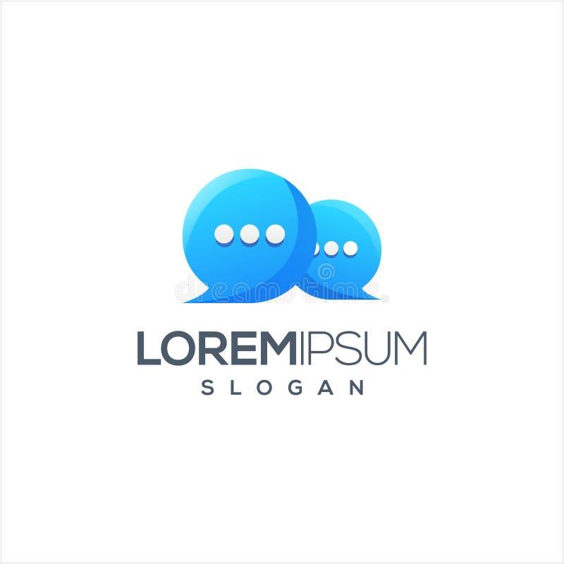 Diseño del logotipo de la charla listo para utilizar stock de ilustración