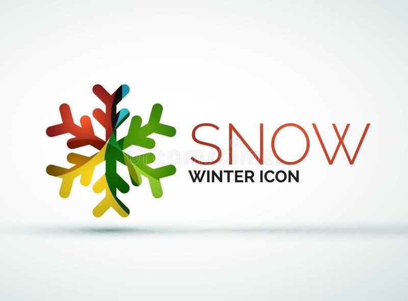 Diseño del logotipo de la compañía del copo de nieve de la Navidad libre illustration