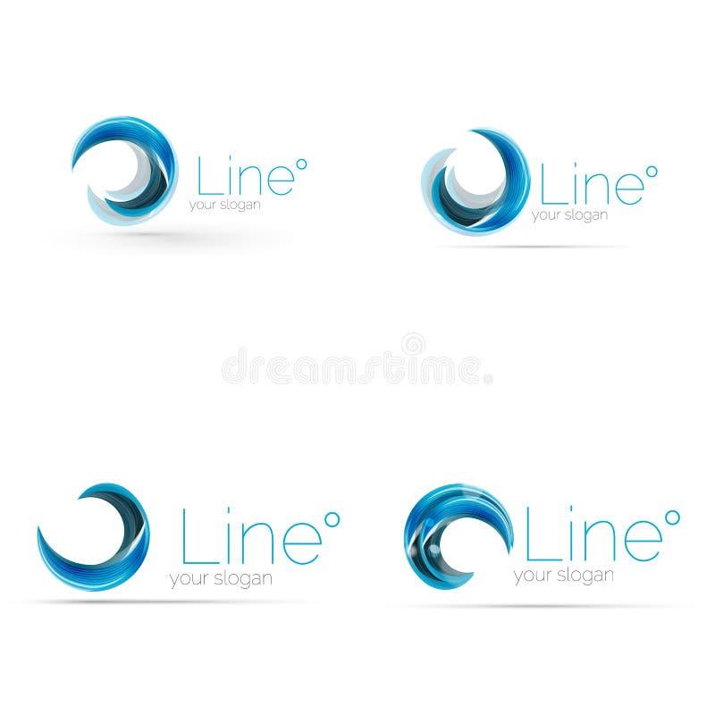 Diseño del logotipo de la compañía del remolino ilustración del vector