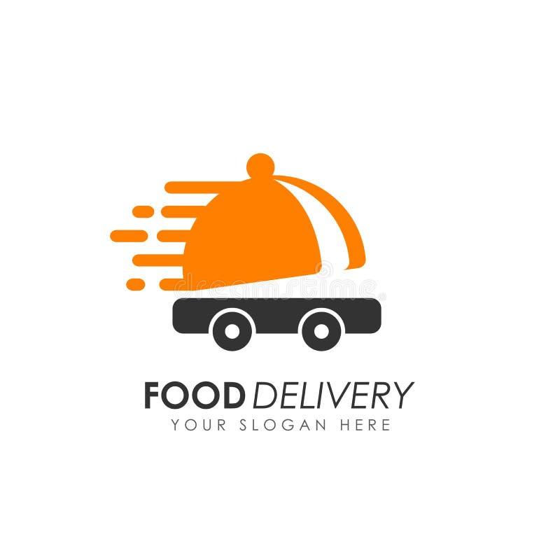 Diseño del logotipo de la entrega de la comida ilustración del vector