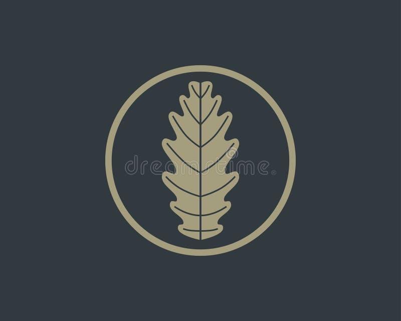 Diseño del logotipo de la hoja del roble libre illustration