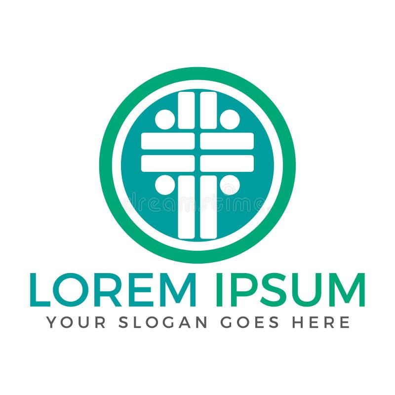 Diseño del logotipo de la iglesia de la gente libre illustration