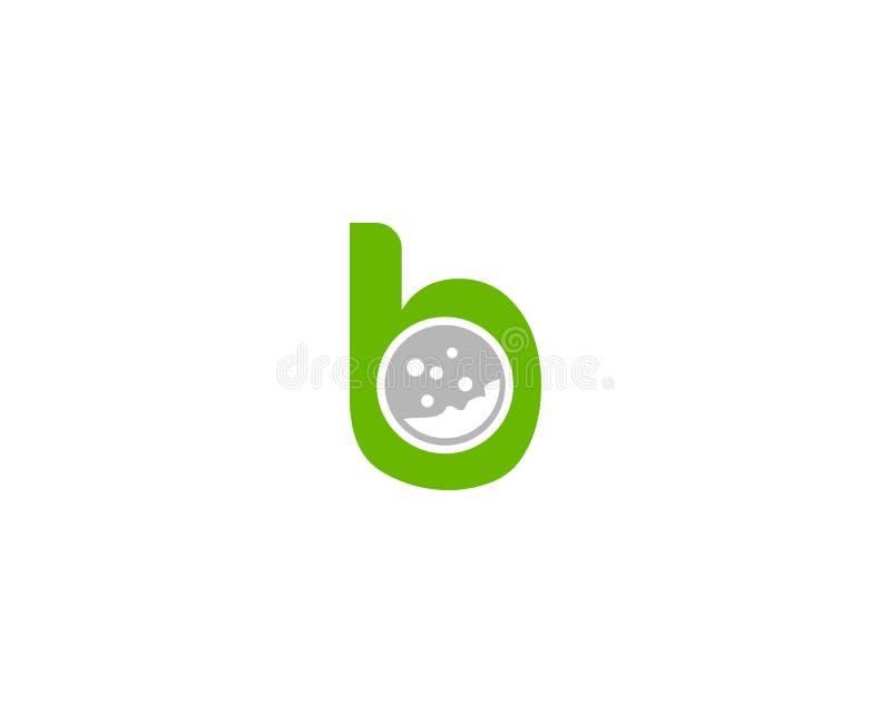 Diseño del logotipo de la letra B del deporte del golf libre illustration