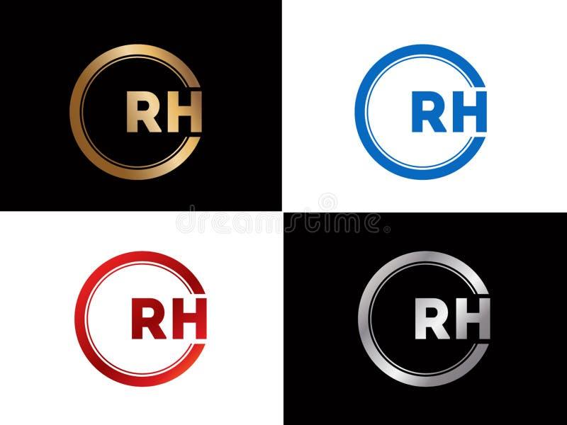 Diseño del logotipo de la letra de la forma del cuadrado el derecho en el color oro de plata stock de ilustración