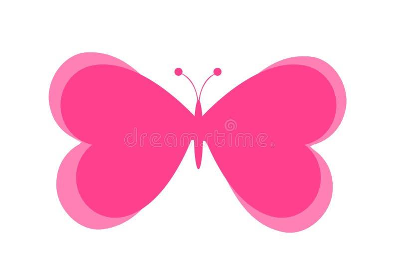 Diseño del logotipo de la mariposa en el fondo blanco Ilustraci?n stock de ilustración