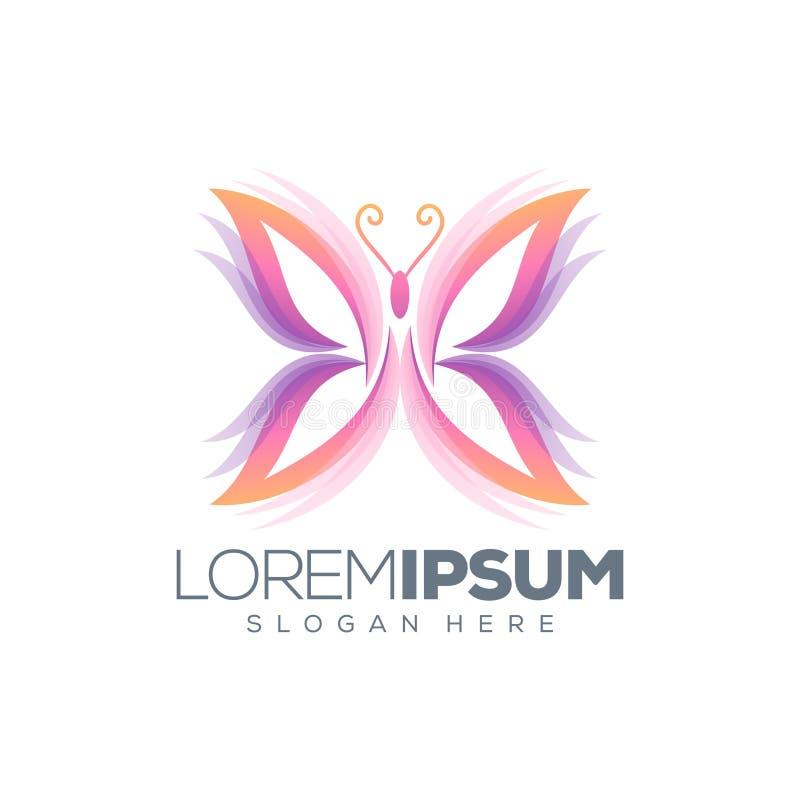 Diseño del logotipo de la mariposa, listo para utilizar stock de ilustración