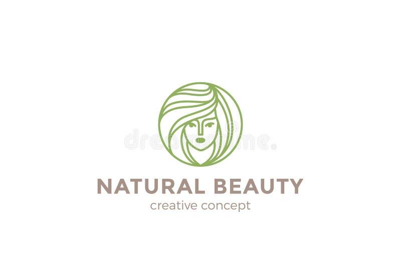 Diseño del logotipo de la mujer del salón del peluquero de la belleza libre illustration