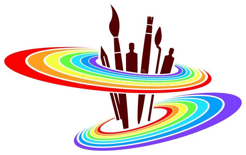 Diseño del logotipo de la pintura stock de ilustración