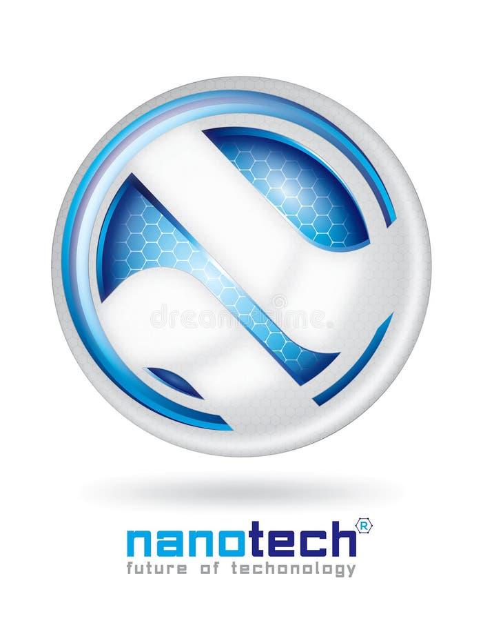 Diseño del logotipo de Nanotech ilustración del vector