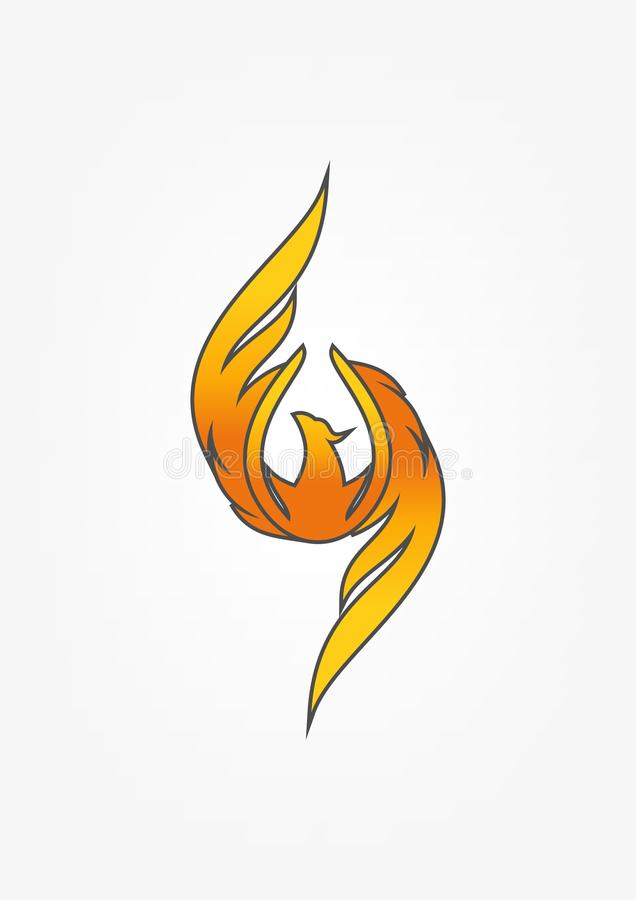 Diseño del logotipo de Phoenix libre illustration
