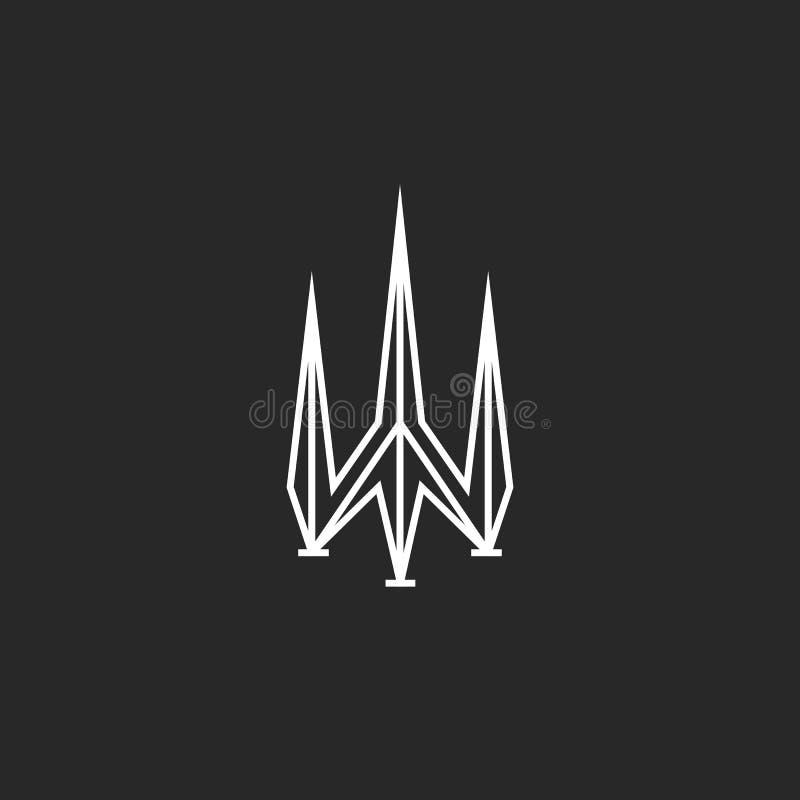 Diseño del logotipo de Trident, símbolo del poseidon, forma aguda libre illustration