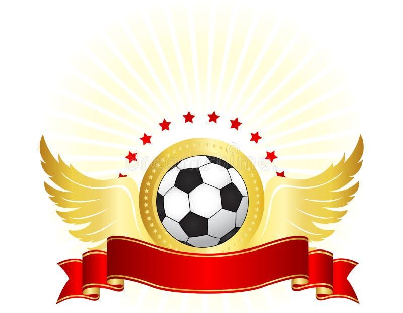 Diseño del logotipo del club del fútbol/del fútbol stock de ilustración