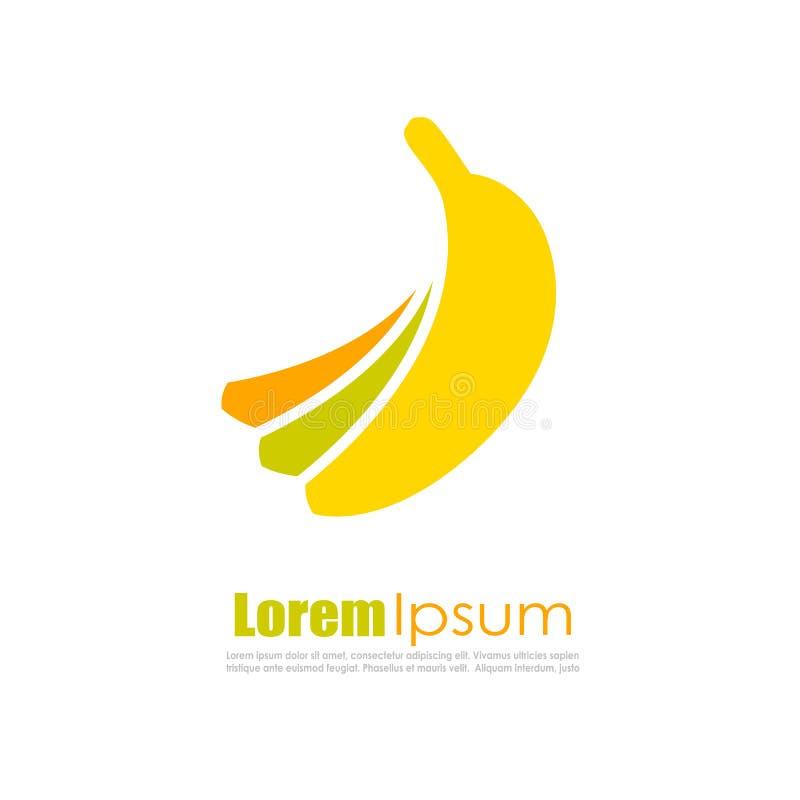 Diseño del logotipo del vector de la fruta del plátano ilustración del vector