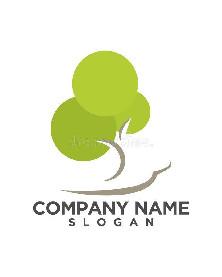 Diseño del logotipo del vector de la hoja del árbol, concepto respetuoso del medio ambiente ilustración del vector