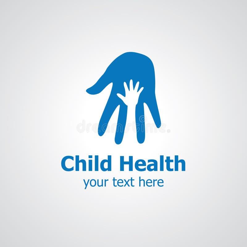 Diseño del logotipo del vector de las saludes infantiles stock de ilustración
