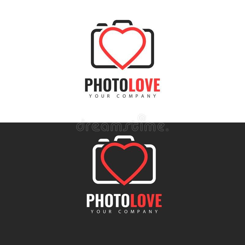 Diseño del logotipo del estudio de la foto ilustración del vector
