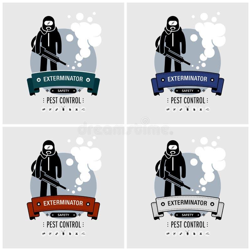 Diseño del logotipo del exterminador stock de ilustración