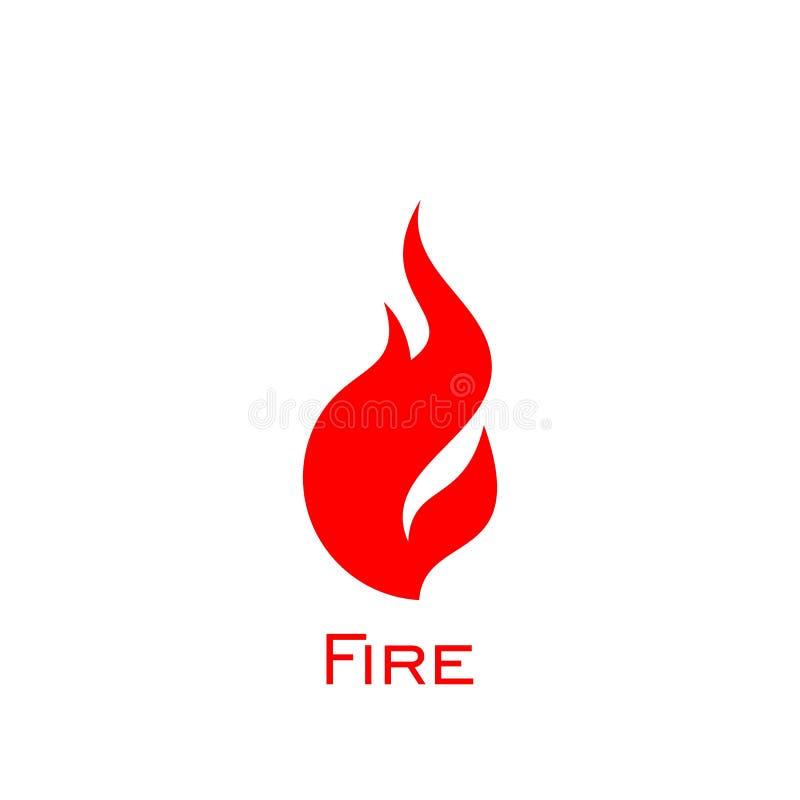 Diseño del logotipo del fuego ilustración del vector