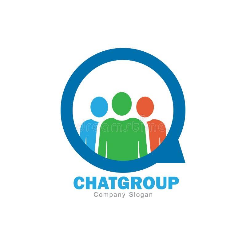 Diseño del logotipo del grupo de chat stock de ilustración