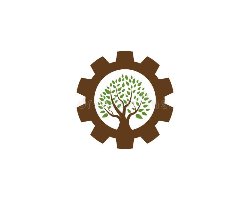 Diseño del logotipo del icono del árbol ilustración del vector